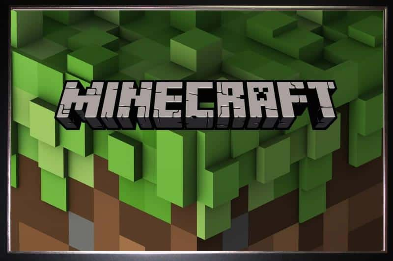 minecraft-silk-poster-3d-grass-logo